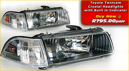 Toyota Twincam headlights