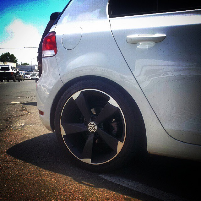 Vw Golf 6 but looks sick with this Rs3 style wheels #autostyle #mk6 #golf #vw #volkswagen #audi ...
